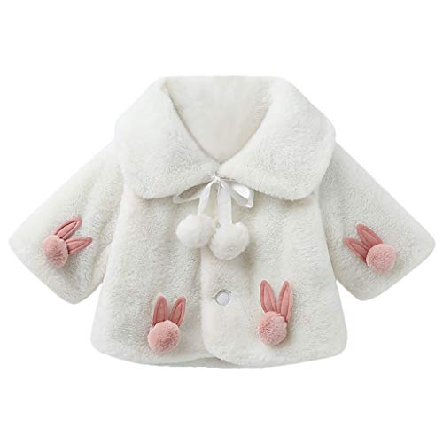 Likecrazy Baby Mantel,Toddler Kinder Mädchen Winterjacke Faux Pelz Mantel Kinderjacken Fleecejacke Warm Winter Cape Cloak Outwear Kinder Cute Kaninchenohr Dicke Warme Oberbekleidung