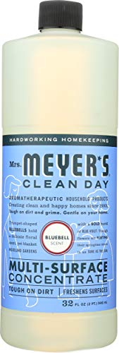 Mrs. Meyer's Clean Day Multi-Surface Cleaner Concentrate, Use to Clean Floors, Tile, Counters,Bluebell Scent, 32 oz