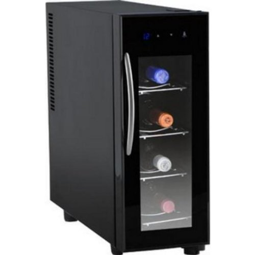 Orbegozo VT-400 Vinoteca de 4 Botellas con Display Digital, Metal, Neg