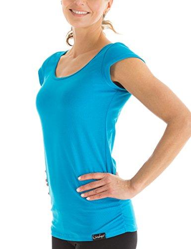 Winshape Damen Kurzarmshirt WTR4 Fitness Freizeit Yoga Pilates,Türkis,S