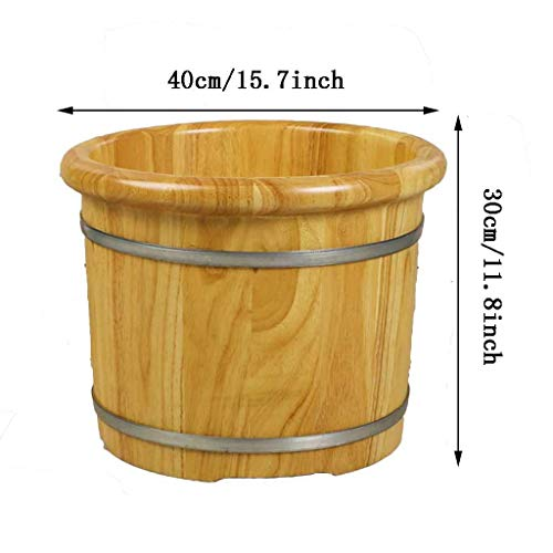 Find Discount Foot massager Foot Bath Wooden Pedicure Barrel Spa, Plus Thick with Lid Bath Tub,Foo...