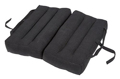 Handelsturm Thaikissen Faltbares Sitzkissen 40x40 für Entspannung, Meditation oder Yoga (schwarz)