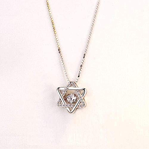 WYDSFWL Collar de Doble Capa de Monedas de Acero de Titanio, Oro Rosa, Cadena de Zueco Salvaje para Mujer, 36/62 + 6 cm, Collar de Amor, Regalo