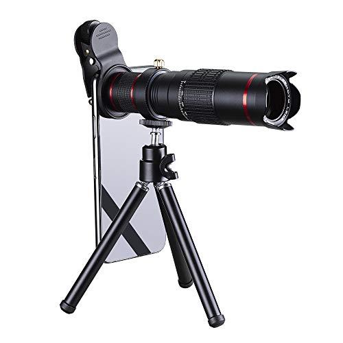 WQYRLJ 22X Telelens, Universele HD Externe Smartphone Camera Telescoop Dubbele Aanpassing Zoom Lens met Mini Statief voor De meeste Smartphones