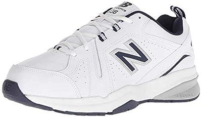 New Balance Men's 608v5 Casual Comfort Cross Trainer Shoe, White/Navy, 10.5 M US