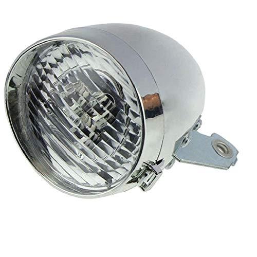 Luce - Fanale Anteriore LED - Batterie Incluse - Ideale per Bicicletta City Bike - Vintage - Olanda Uomo/Donna