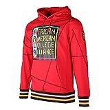 Men's Teenagers performance Casual Long Sleeve Lightweight Fleece Hooded Sweat Shirt Hoodie Sweatwear Redblack