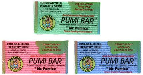 Mr. Pumice Callus Remover Pumi Bar: Pedicure Stone & Foot Scrubber - Medium Grit (4 Pack, Assorted Colors)