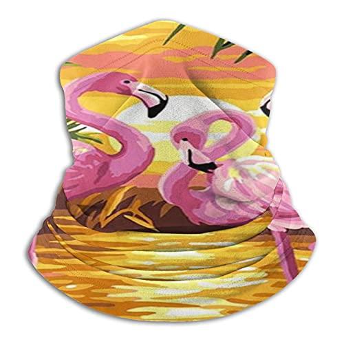 vfgty369 Máscara facial unisex de microfibra con diseño de flamenco, color rosa