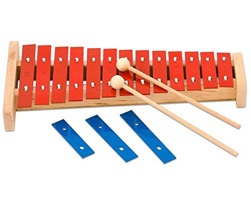 Glockenspiel Kinder, Xylophon lernen, Alt-Glockenspiel mit 16 Klangplatten - Stabspiel Schlaginstrument Kinder Musikschule Musikunterricht Schule Schüler musizieren Instrumente Glocken-Spiel