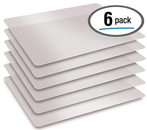 Extra Thick Flexible Frosted Clear Plastic Cutting Mats, 12' x 18', Set of 6, by Better Kitchen Products