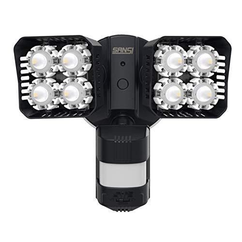 SANSI LED Strahler mit Bewegungsmelder Außen, 36W 3600 Lumen 5000K Tageslichtweiß Superhell Aussenleuchte mit Bewegungsmelder, IP65 Wasserdicht Flutlicht Sicherheitsleuchte für Garage, Hof, Schwarz