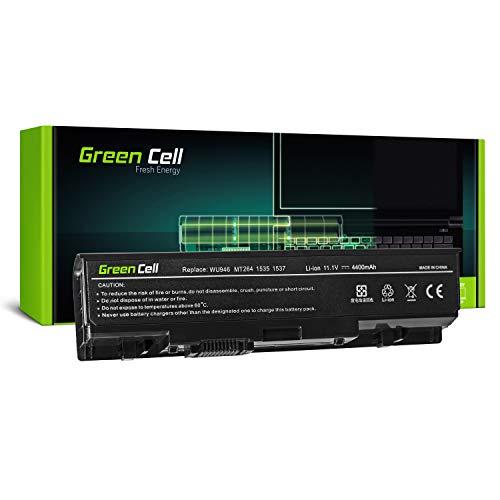 Green Cell Batería para portátil DELL Studio 15, 1535, 1536, 1537, 1555, 1557 y 1558 (6 Celdas, 4400 mAh, 11,1 V), Color Negro