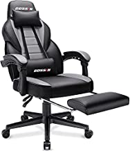 BOSSINGaming Chair,400lbErgonomic Heavy Duty Design, Gamer Chairwith Footrest and Lumbar Support, Large SizeCushion HighBackOffice Chair, Big and TallGaming Computer Chairfor Kids Teen Adult