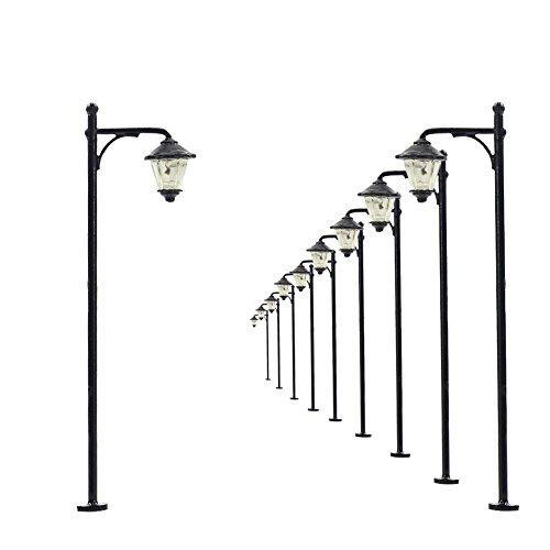 Evemodel LYM11 Model Eisenbahn Beleuchtung 1:160 Spur N Lamppost Lampe Strasse Licht Hausbeleuchtung LEDs 5cm