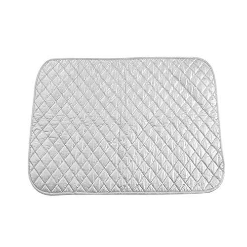 Almohadilla sólida para tabla de planchar, tapete de hierro plegable, portátil duradero resistente al calor para piso, escritorio, cama, tablero para gabinete (6055cm, sin imán)