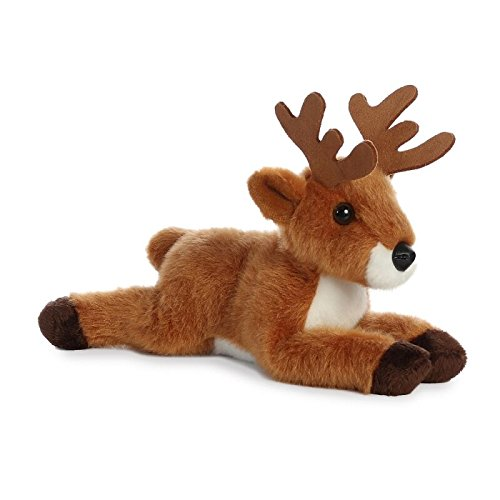 AURORA, Mini Flopsie, Deer Soft, 31307, 8in, Cuddly Toy For Children, Brown