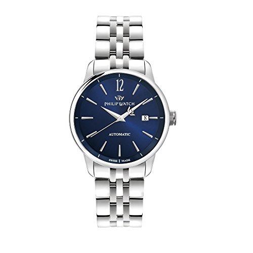 PHILIP WATCH Herren Analog Automatik Uhr mit Edelstahl Armband R8223150001