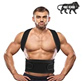 Cherrin Magnetic Back Brace Posture Corrector Therapy Shoulder Belt for Lower and Upper