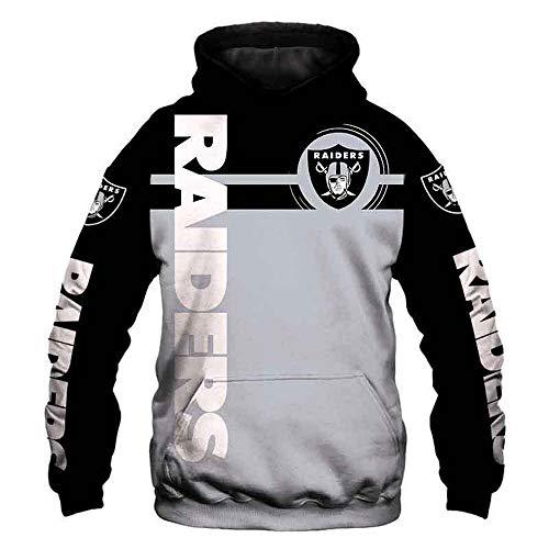 LIULL UnisexHoodie Pullover Raiders NFL Jacke 3D Digital Printing Baseball Uniform Sport Sweatshirt A-L