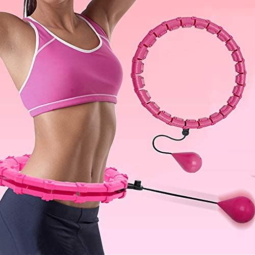 Weighted Hoola Hoop – Smart Fitness Hoops for Adults & Kids,Upgrade Hoop Ring Non-Falling,2-in-1 Abdominal Weight Loss…