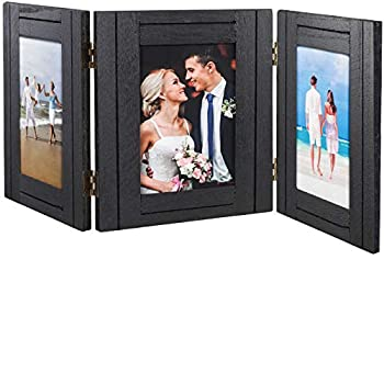 Excello Global Products Hand Painted Rustic Three Picture Frame  Holds Three 4x6 Photos - EGP-HD-0334