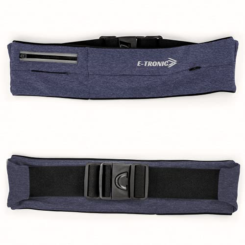 E Tronic Edge Running Belts: Comfortable Waist Pack and Phone Holder Pouch Case for Running, Hiking, Workouts, Cycling, Travelling Money Belt & More, Blue