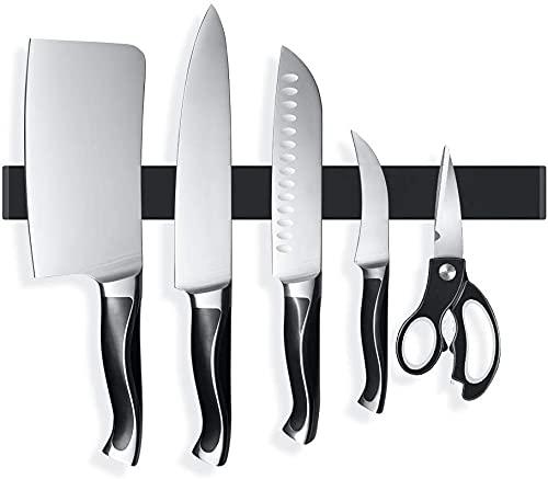 Magnetleiste Messer, 40cm Extra Starker Magnet Messerhalter aus Edelstahl, Magnetleiste Selbstklebend, Messerhalter Magnetisch Für Organisierte Küche