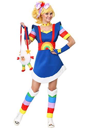 Women's Rainbow Brite Fancy Dress Costume, S, L, XL