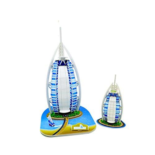 Alta calidad Cute Creative Magic Petronas Torres 3d Puzzle papel modelos, Europa EN71, nos ASTM f963,6p y 3C inspección de la calidad, 130piezas