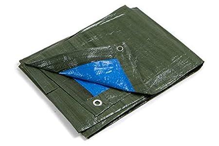Karp KIPPEN 6064B - Lona con Ojales, Bicolor, Medida 3 x 4 m, Verde/Azul
