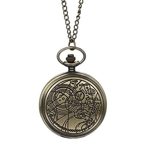 Retro Taschenuhr altmodische Uhr mit Kette unregelmäßig Retro Design Wanduhr Geschenk für Opa Vater C.