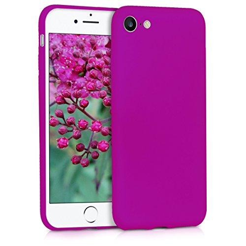 kwmobile Cover Compatibile con Apple iPhone 7/8 / SE (2020) - Custodia in Silicone TPU - Backcover Protezione Posteriore- Viola Fluorescente