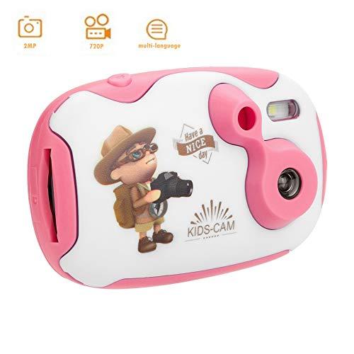 Tosuny digitale kindercamera, mini-camcorder met 1,44 inch HD-weergave en ingebouwde oplaadbare batterij, USB 2.0, ondersteunt 32 G TF-kaarten, speelgoed en cadeau voor kinderen