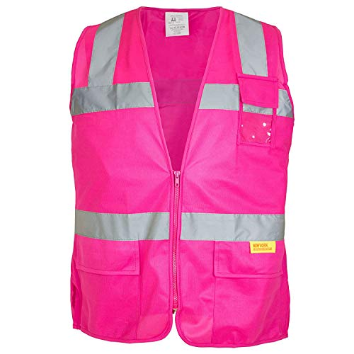 RK Safety PK0430 ANSI/ISEA Class 2 Certified Female Safety Vest (Pink, Small)