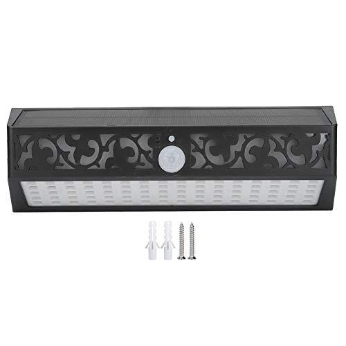 Lámpara de pared LED inalámbrica para exteriores, luz de calle solar de anochecer a amanecer, luz de sensor de movimiento de 90 LED, resistente al agua IP65 con 2 sistemas de sensores y 3 modos de luz