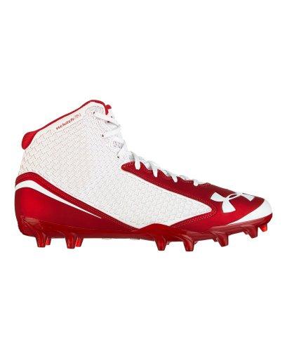 Under Armour , Herren American Football Schuhe, Mehrfarbig - White/Kaleidescope/Red - Größe: 41,5 EU (M)
