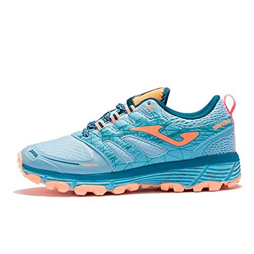 Joma Sima, Zapatillas para Carreras de montaña, Azul-Rosa, 37 EU