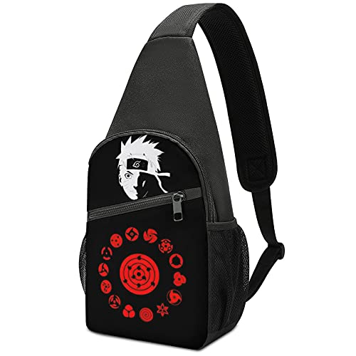 Anime Na-ru-to Sling Bag Chest Shoulder Backpack Crossbody Bags for Men Boys Travel Hiking Cycling Casual Lightweight Daypack
