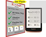 EnWi | 2X Panzerfolie Panzerschutzfolie 9H Display-Schutz-Folie für Pocketbook Touch HD 3