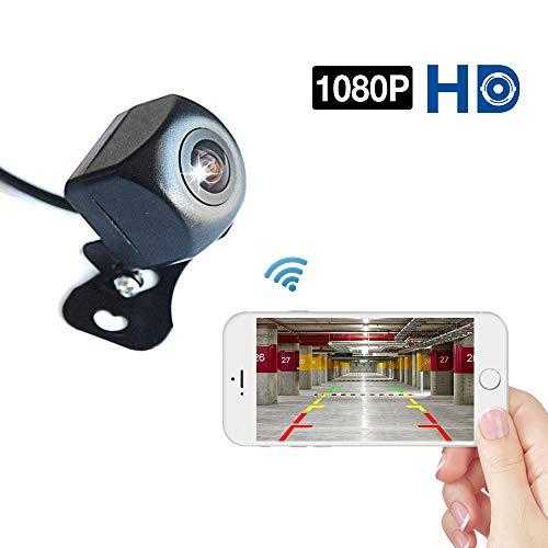 Podofo WiFi Rückfahrkamera 1080P Full HD Nachtsicht Drahtlose Rückfahrkamera wasserdichte Weitwinkel Auto Rückfahrkamera für Android/IOS Smart Phone