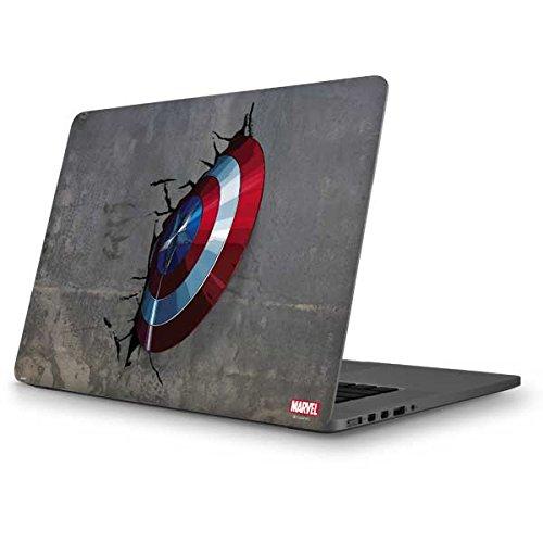 Skinit Decal Laptop Skin for MacBook Pro 13 (2013-15 Retina Display) - Officially Licensed Marvel/Disney Captain America Vibranium Shield Design