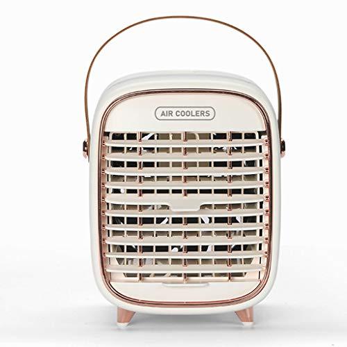 JIABAN Refrigerador de aire portátil, ventilador de desempañamiento, adecuado para el hogar, la oficina y el dormitorio, humidificador de aire que desempaña el ventilador