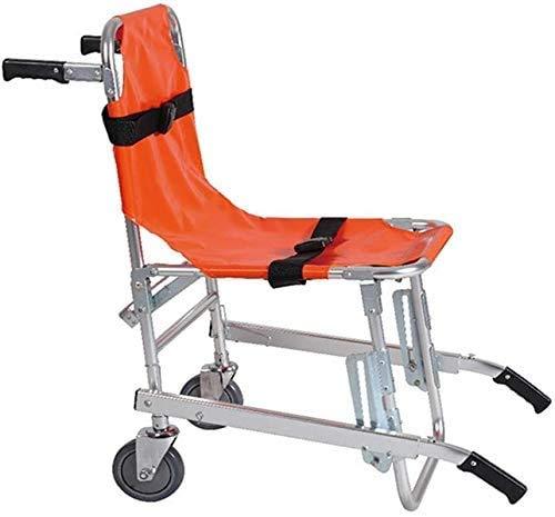 GaoFan Silla de Escalera de elevación médica, Silla de Escalera de aleación de Aluminio, Silla de Emergencia de evacuación de Bombero de Ambulancia Plegable Ligera con Hebillas de liberación rápid