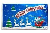 Flaggenfritze Fahne/Flagge Merry Christmas Weihnachtsmann mit Schlitten + gratis Sticker