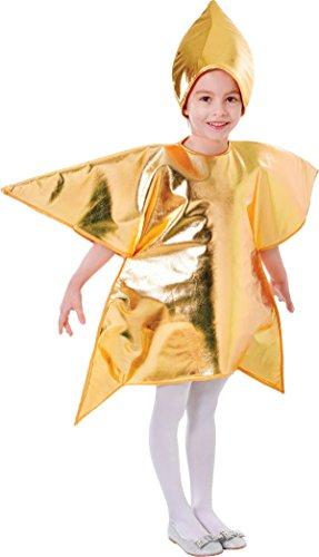 Bristol Novelty- Disfraz infantil de estrella, Color dorado, Talla única (CC999)