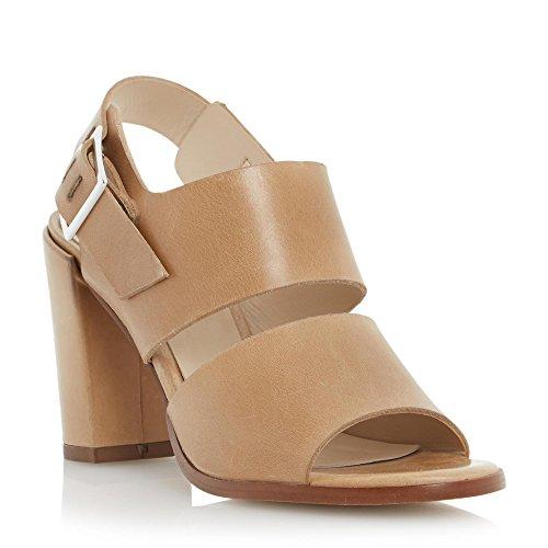 Dune London Cupped Block Heel Sandal Sandalen/Sandaletten Damen Beige - 38 - Sandalen/Sandaletten Shoes