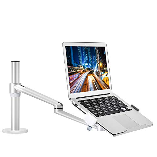 Laptop Mount, Height Adjustable Single Arm Mount Support 12-17.3 inch Laptop/Notebook/Tablet