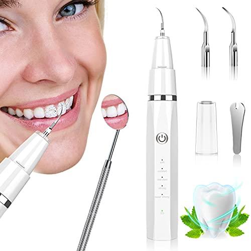 Kits Dentaires, MHDYT Anti Tartre Dentaire, Blanchiment des dents avec 3 Têtes de Nettoyage et 5 Modes Réglables, USB Rechargeable Detartrage Dentaire pour Adultes, Enfants et Chiens