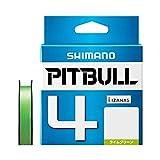 シマノ(SHIMANO) PEライン ピットブル 4本編み 200m 1.0号 ライムグリーン 20.0lb PL-M64R
